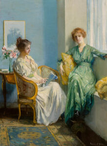 Francis Coates Jones, 'An Afternoon Reading'