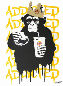 Thirsty Bstrd, 'Fast Food Monkey – Burger King Orange Yellow', 2016