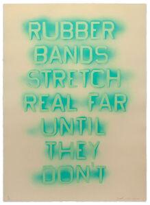 Ed Ruscha, 'Rubber Bands (State III) ', 2017
