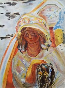 Pierre Bonnard, 'Jeune Fille dans un Barque', 1939
