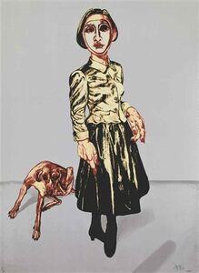 Zeng Fanzhi 曾梵志, 'Woman & Dog ', 2006