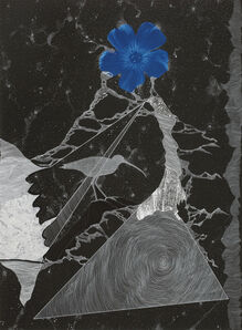 Kirsten Furlong, 'Night Passages (Lewis Blue Flax and Long-billed Curlew)', 2019
