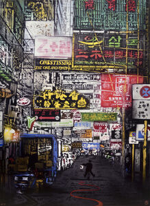 Nick Walker, 'Painting The Town Red (Hong Kong #2)', 2015