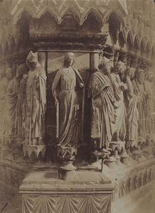 Charles Marville, 'Reims, West Facade of Cathedral', 1854/1854
