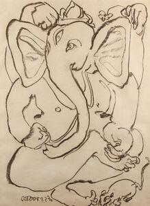 Jogen Chowdhury, 'Ganesha', 1990
