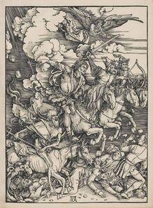 Albrecht Dürer, 'The Four Horsemen of the Apocalypse, from: The Apocalypse (B. 64; M., Holl. 167; S.M.S. 115) ', 1497-1498