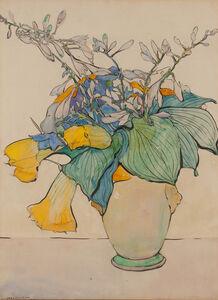 Jane Peterson, 'Squash in Yellow Vase', ca. 1925