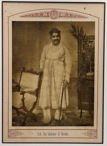 Raja Deen Dayal, 'The Gaekwar of Baroda', 1890
