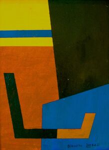 Blanche Lazzell, 'Abstract in Blues, Yellow, Red', n.d.