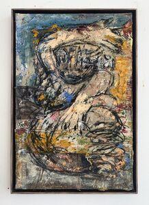 Daniel Crews-Chubb, 'Belfie of Willendorf (blue and yellow)', 2019