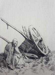Alphonse Legros, 'La Charrette (The Cart)', 1876