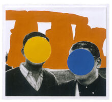 John Baldessari, 'Stonehenge (With Two Persons) Orange', 2005