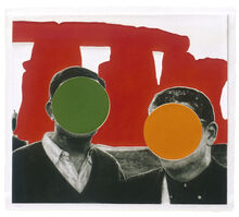 John Baldessari, 'Stonehenge (With Two Persons) Red', 2005