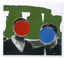 John Baldessari, 'Stonehenge (With Two Persons) Green', 2005