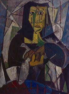 Miguel Ángel Pareja, 'Mujer del pájaro', 1950