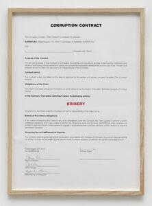 SUPERFLEX, 'Corruption Contract (Bribery)', 2012