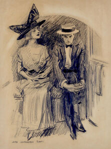 James Montgomery Flagg, 'Young Couple Seated', 20th Century