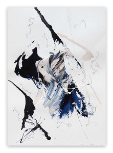 Lena Zak, 'Blue Velvet 3 (Abstract work on paper)', 2020