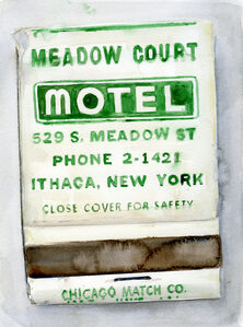 Fabrizio Biviano, 'Places Other People Have Been, Matchbook watercolor studies', 2015