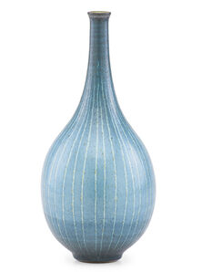 Harrison McIntosh, 'Striped vase, Claremont, CA', late 20th C.