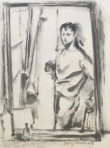 Jerry Farnsworth, 'Young Man Before a Mirror', Early 20th c.