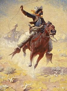 William Robinson Leigh, 'The Roping', 1914