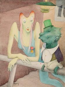 Walter Schnackenberg, 'The Surreal Conversation', 1948