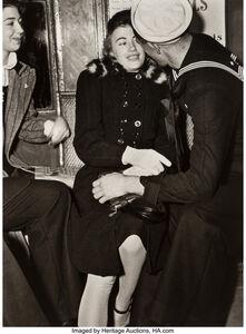Lou Stoumen, 'Sailor and Girl on Subway', 1940