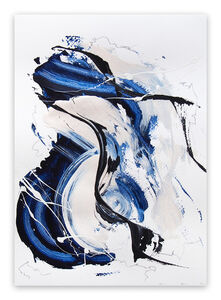 Lena Zak, 'Blue Velvet 4 (Abstract work on paper)', 2020