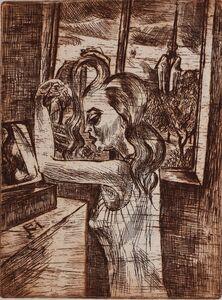Conrad Felixmuller, 'Woman in the Morning - Grooming | Frau in der Morgen Kämmen', 1920