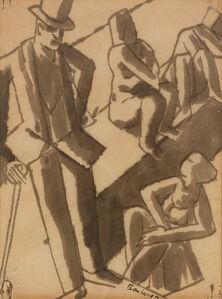 David Bomberg, 'Untitled (Figures)', 1919