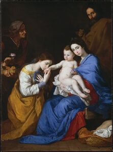Jusepe de Ribera, 'The Holy Family with Saints Anne and Catherine of Alexandria', 1648