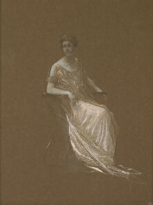 Thomas Wilmer Dewing, 'Seated Woman'