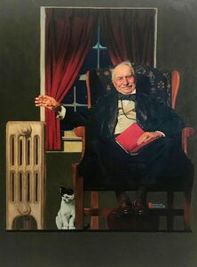 Norman Rockwell, 'Man Seated by Radiator', 1935