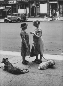 Dan Weiner, 'Untitled (Two Women with Dogs)'