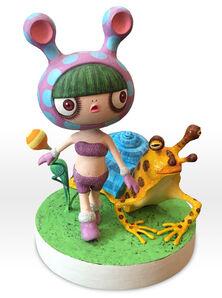 "Ayumi Nishiyama, 'A girl ""coloco"" and a snail frog', 2015"