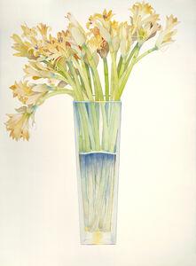 Gary Bukovnik, 'Gold Lilies in a Tall Vase', 2018