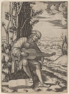 Marcantonio Raimondi, 'The Guitar Player'