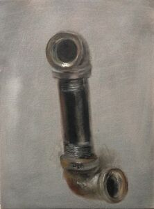 Alexander Melamid, 'Black Steel Pipe Nipple with 2 Black Iron Elbows', 2014