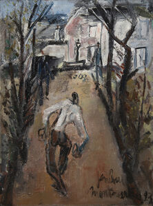 Gen Paul, 'Les joueurs de boules à Montmartre', 1923