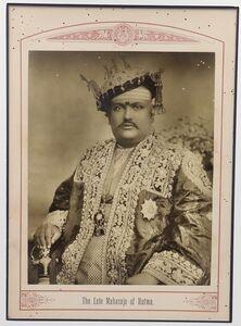 Raja Deen Dayal, 'The Late Maharaja of Hutwa', ca. 1890