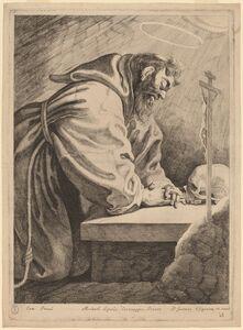 Pieter Claesz Soutman after Francesco Bassano II, 'Saint Francis'