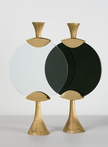 "Aldus, '""Moon,"" Candlestick in Black or White', 2013"
