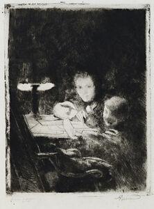 Albert Besnard, 'Sous la Lampe', 1929