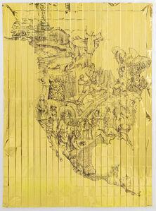 Pietro Ruffo, 'Gold Migration, North America ', 2019