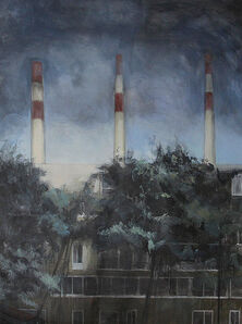 Bea Sarrias, 'Chimneys on a Cloudy Day ', 2019