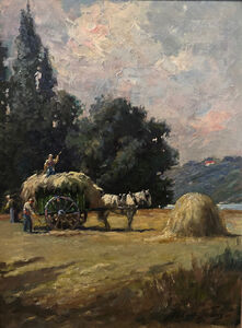 Abbott Fuller Graves, 'Haying Scene', 1890-1900