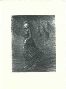Théophile Alexandre Steinlen, 'Dans la rue', 1909