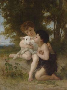 William-Adolphe Bouguereau, 'Les Enfants à L'Agneau', 1879