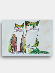 Aldemir Martins, 'Family of Cats ', 2005